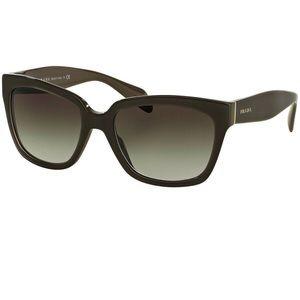 Black Prada sunglasses gradient lens slight cateye